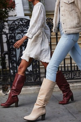 Awesome Winter Dress Outfits Ideas With Boots07