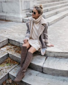 Awesome Winter Dress Outfits Ideas With Boots20