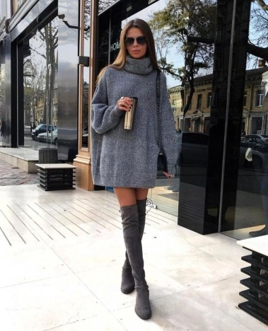 Awesome Winter Dress Outfits Ideas With Boots33