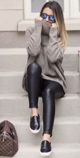 Best Winter Outfits Ideas With Leggings20
