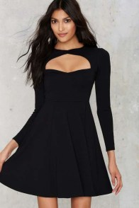 Perfect Black Mini Little Dress Ideas For Valentines Day19