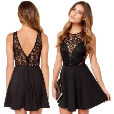 Perfect Black Mini Little Dress Ideas For Valentines Day33