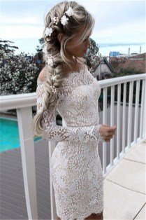 Perfect Winter White Dresses Ideas With Sleeves12