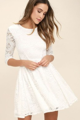 Perfect Winter White Dresses Ideas With Sleeves16