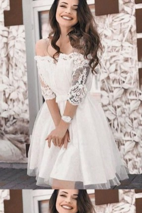 Perfect Winter White Dresses Ideas With Sleeves33