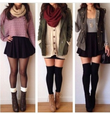Stunning Winter Outfits Ideas With Skirts07