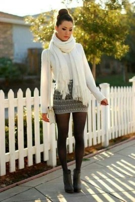 Stunning Winter Outfits Ideas With Skirts15