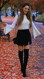 Stunning Winter Outfits Ideas With Skirts19