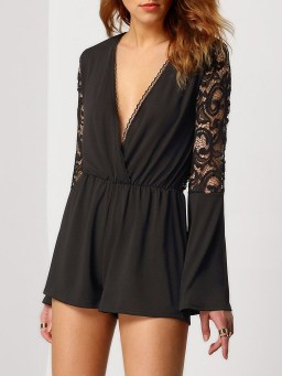 Adorable Black Romper Outfit Ideas17