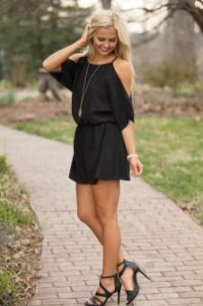 Adorable Black Romper Outfit Ideas22