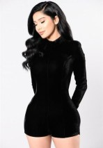 Adorable Black Romper Outfit Ideas24