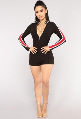 Adorable Black Romper Outfit Ideas29