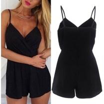 Adorable Black Romper Outfit Ideas39