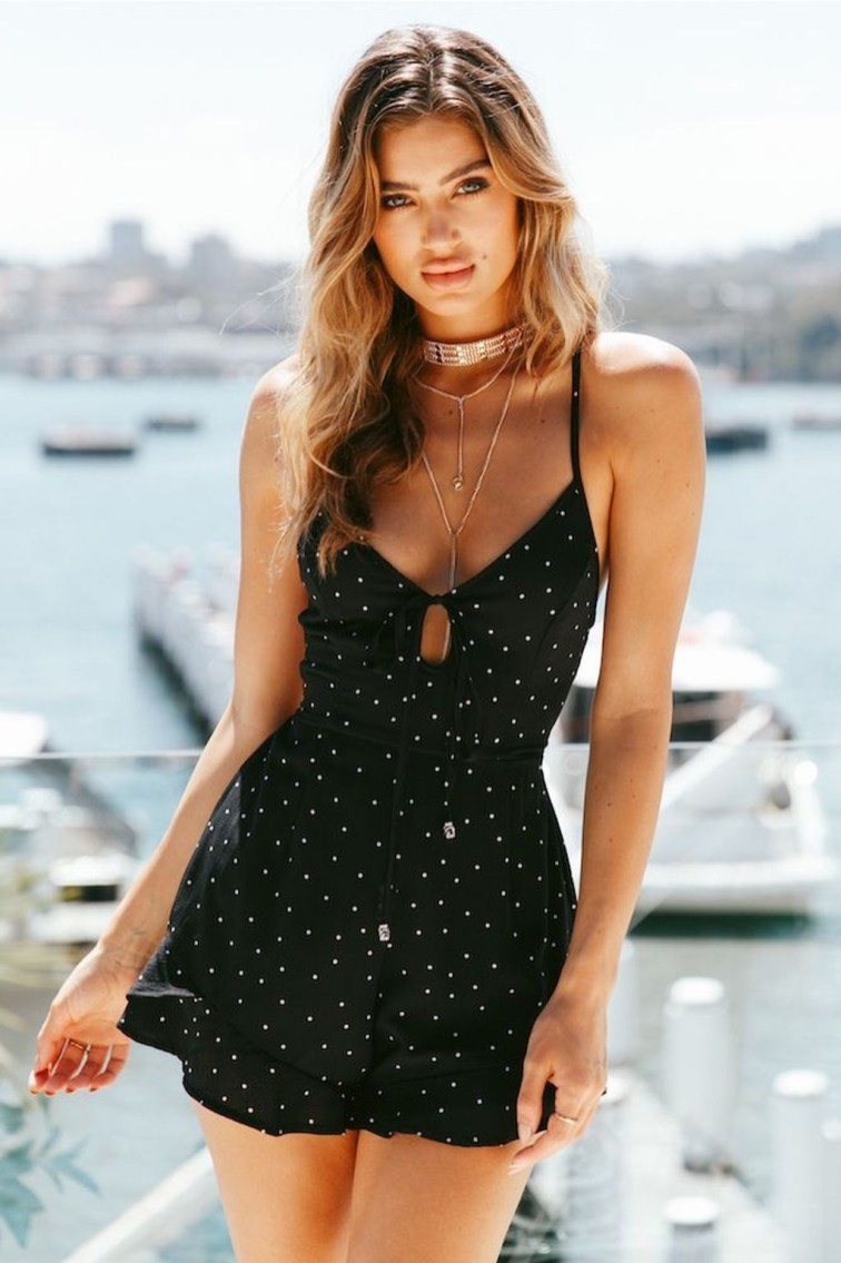 Adorable Black Romper Outfit Ideas40