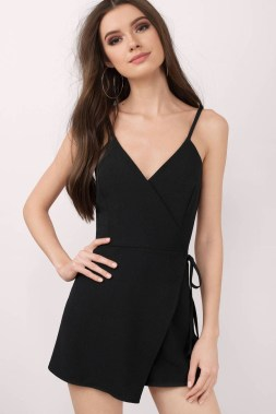 Adorable Black Romper Outfit Ideas45