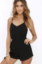 Adorable Black Romper Outfit Ideas50