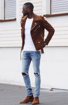 Affordable Leather Jacket Outfit Ideas18