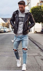Affordable Leather Jacket Outfit Ideas21