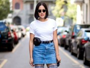 Elegant Denim Skirts Outfits Ideas For Spring35
