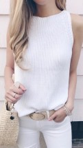Lovely Spring Outfits Ideas With White Top14