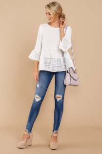 Lovely Spring Outfits Ideas With White Top29