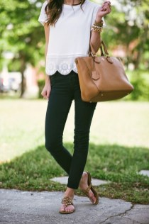 Lovely Spring Outfits Ideas With White Top30