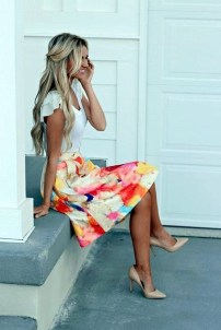 Lovely Spring Outfits Ideas With White Top32
