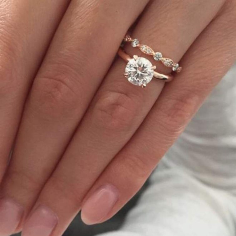 Brilliant Rose Gold Wedding Rings Ideas01