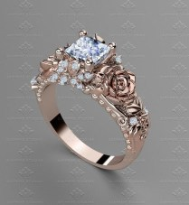 Brilliant Rose Gold Wedding Rings Ideas08