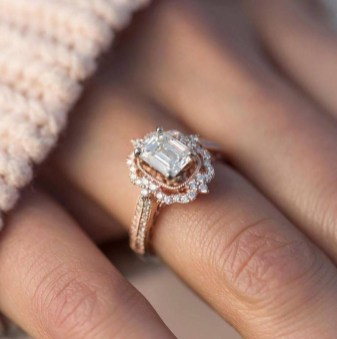 Brilliant Rose Gold Wedding Rings Ideas13