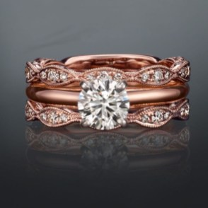 Brilliant Rose Gold Wedding Rings Ideas19