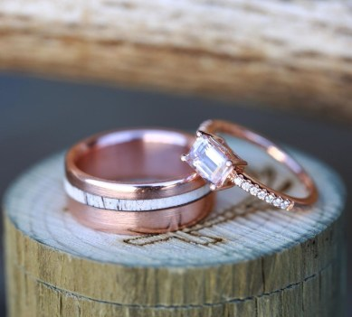 Brilliant Rose Gold Wedding Rings Ideas22