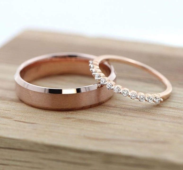 Brilliant Rose Gold Wedding Rings Ideas36