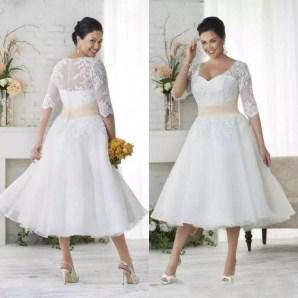 Gorgeous Tea Length Wedding Dresses Ideas05
