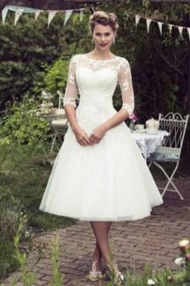 Gorgeous Tea Length Wedding Dresses Ideas09
