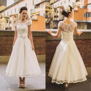Gorgeous Tea Length Wedding Dresses Ideas12