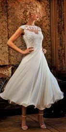 Gorgeous Tea Length Wedding Dresses Ideas20