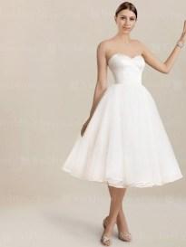 Gorgeous Tea Length Wedding Dresses Ideas21