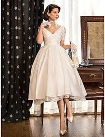 Gorgeous Tea Length Wedding Dresses Ideas22
