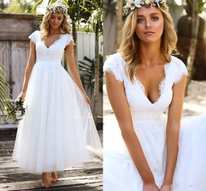Gorgeous Tea Length Wedding Dresses Ideas23