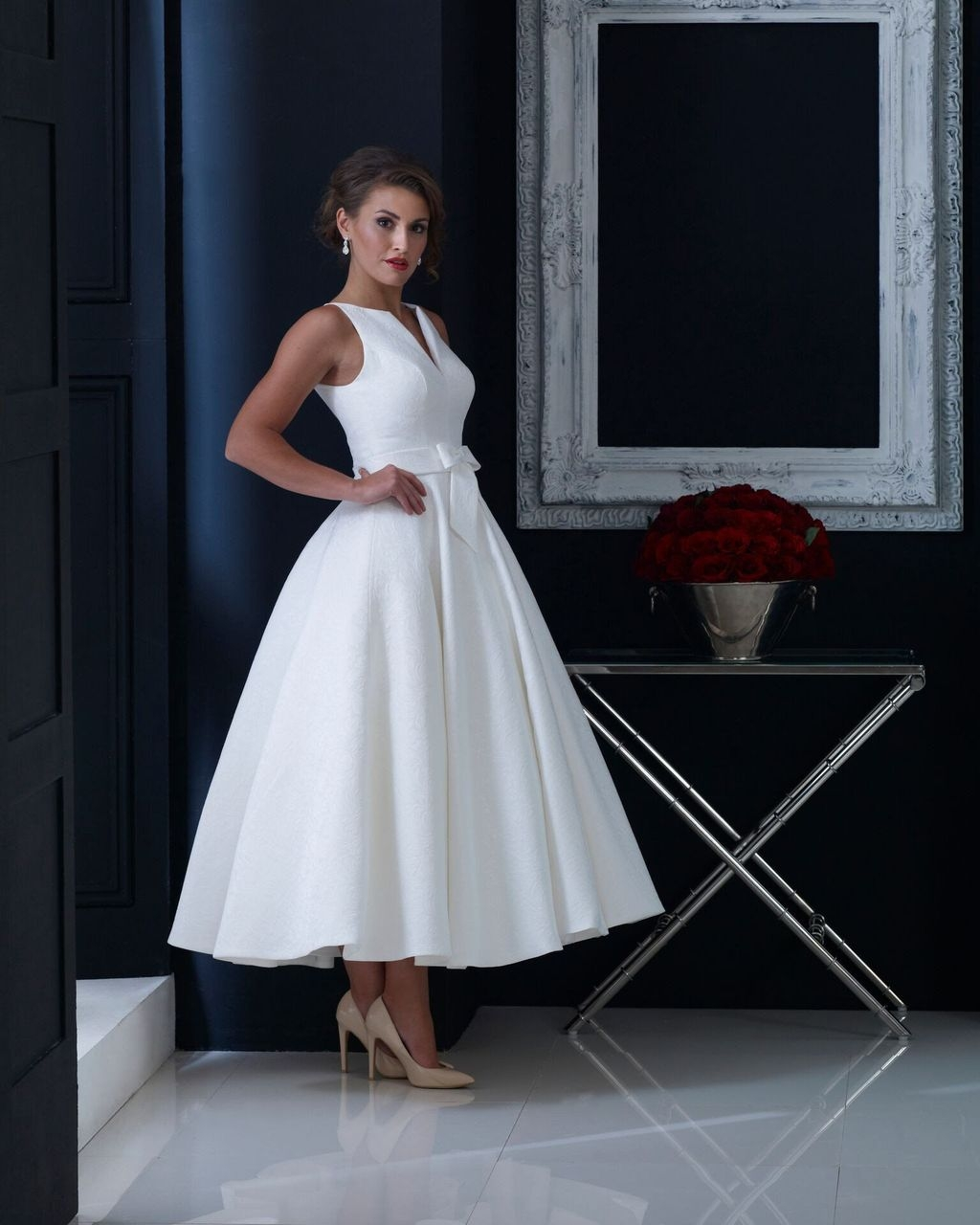 Gorgeous Tea Length Wedding Dresses Ideas26