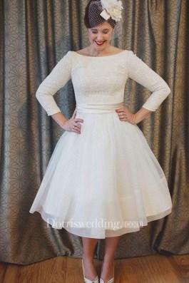Gorgeous Tea Length Wedding Dresses Ideas33