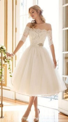 Gorgeous Tea Length Wedding Dresses Ideas34