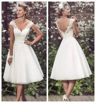Gorgeous Tea Length Wedding Dresses Ideas35