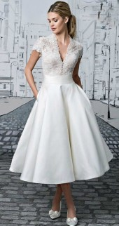 Gorgeous Tea Length Wedding Dresses Ideas38