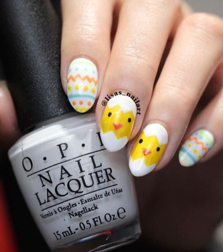Modern Easter Nail Art Design Ideas21