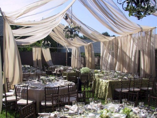 Pretty Backyard Reception Decoration Ideas29