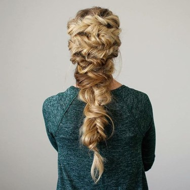 Stylish Mermaid Braid Hairstyles Ideas For Girls25