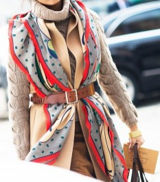 Best Ideas To Wear A Scarf Stylishly This Spring30