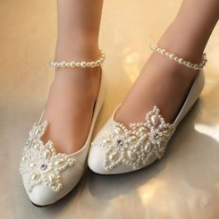 Captivating Flat Wedding Shoes Ideas02